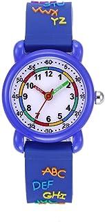 Hemobllo 1Pc Quartz Watch Cartoon Waterproof Lovely Chic Printed Time Device Wrist Watch Wristband Watch Girls Children (Pink)