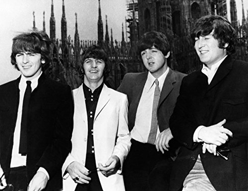 The Beatles 1965 Nthe Beatles In Milan Italy Photograph 1965 Left To Right George Harrison Ringo Starr Paul Mccartney And John Lennon Poster Print by (18 x 24)