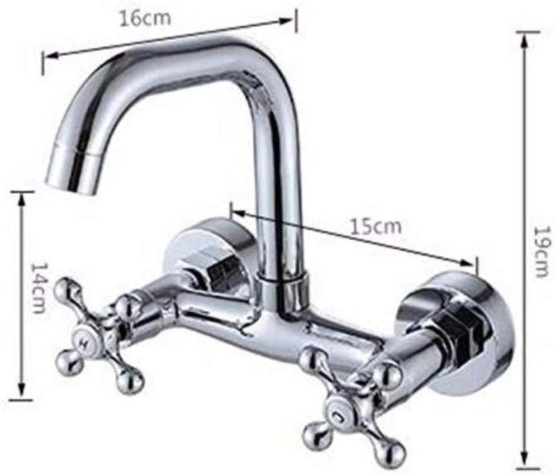 Küche Bad Wasserhahnantique Kitchen Sink Mischbatterie Kupfer In Wand Küche Kaltwasserhahn Doppel-Doppel