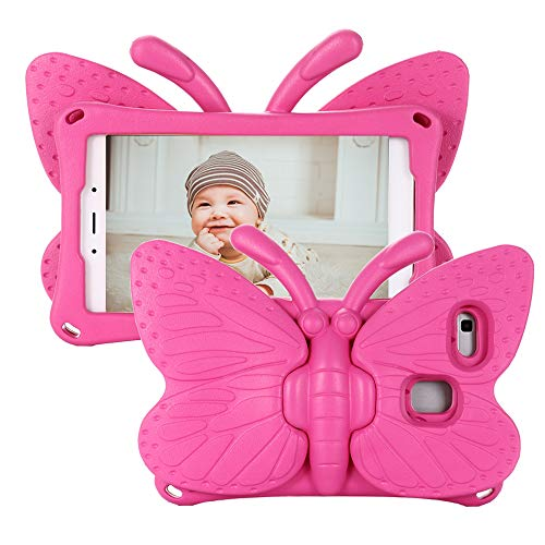 Tading Kids Case for Samsung Galaxy Tab A 8.0 2019 SM-T290/T295, Galaxy Tab A 8.0 Case 2019, Shockproof Light Weight Protective Stand Cover for Galaxy Tab A 8.0 inch 2019 - Hot Pink