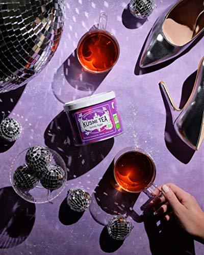 KUSMI TEA クスミティー ラブリーナイト 100g缶 オーガニック 有機JAS認証 ハーブティー ルイボスティー [正規輸入品]