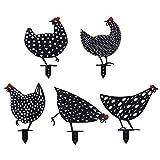 Chicken Yard Art Gartenschilder - Gartenfigur Metall Hühner Deko Handarbeit Gartendeko,Outdoor Garten Hinterhof Rasen Pfähle Huhn Yard Dekor Geschenk,Glück Huhn Dekoration aufwendig verarbeitet