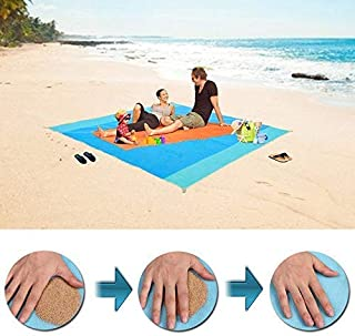 Sand Free Beach Mat/Water Resistant Sandless Blanket -Dirt & Dust Disappear,Easy to Clean,Quick Dry and Portable, Sand Proof Picnic Mat for Beaches,Parks,Camping,Family Travel Outdoor Activities