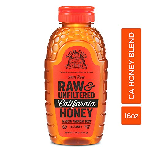 Nature Nate'S 100% Pure Raw & Unfiltered California Honey; 16-oz. Squeeze Bottle; Certified Gluten Free & OU Kosher Certified