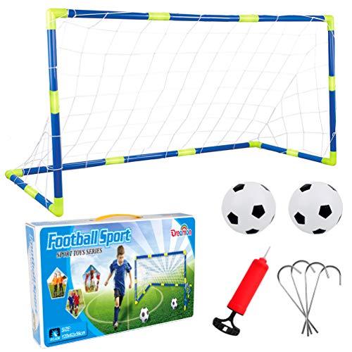 Set di Porte da Calcio per Bambini - 1 Porta con reti Pompa e Palla,120 x 62 x 46 cm