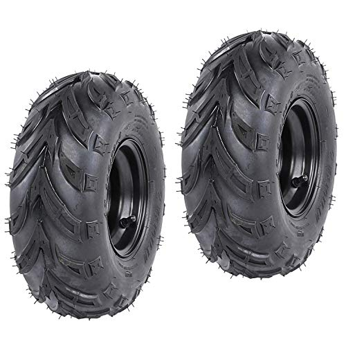 ZXTDR Pack of 2 ATV Tires 145/70-6 Wheels with Rims | Tubeless tire for Go Kart UTV Quad Bike