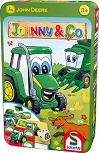 Schmidt Spiele 51264 John Deere, Johnny & Co, Bring Mich mit Spiel in der Metalldose