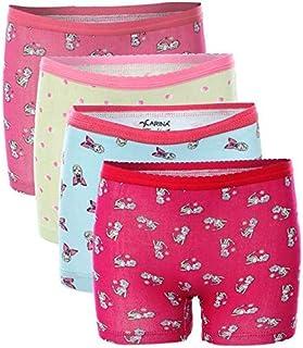 Carina Underwear Panties for Girls - Pack of 4 Hot Shorts - Printed