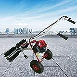 DYRABREST 1.7 HP Petrol Handheld Snow Blower, Electric Sweeper Broom, Nylon Brush Petrol Engine Snow Shovel Sweeper