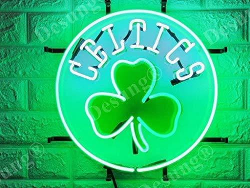 LeeQueen Creative Design Customized 16inx16in Boston Sports Team Celtic Clover Three-Leaf Neon Sign Light (MultipleSizes) HD Vivid Printing Tech Handmade Man Cave Beer Bar Pub Lamp VD11