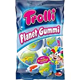 Trolli PLANET GUMMI soft fruit gums with liquid center 1 bag Made in Europe Pack of 2