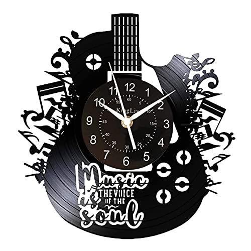 Gitarren-Uhr Vinyl-Schallplatten Kinglive, Musikinstrument, handgefertigte Wanduhren batteriebetriebene Uhren, Geschenke für Musikliebhaber, Halloween-Dekorationen