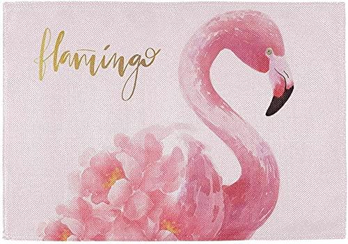 Tapetes De Mesa Lavables Resistentes Al Calor Flamingo Bird30 Cm X 45 Cm (12 Pulgadas X 18 Pulgadas) 6 Piezas