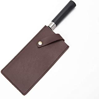PU Leather Meat Cleaver Sheath, Knife Sheaths, Heavy Duty Chef Knife Guard, Butcher Chef Wide Knives Blade Edge Protectors VDT06 (brown)