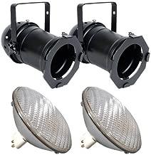 2 pcs. PAR64B + 2 pcs. BulbAmerica 1000PAR64 VNSP Bulbs PD
