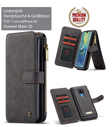 ArtPhone Huawei Mate 20/Mate 20 Pro lederlook telefoonhoesje & portemonnee ***3-in-1 ***voor Mate 20/Mate 20 Pro