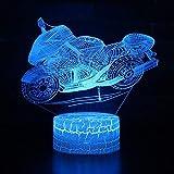 Luce Da Corsa Motocicletta 7 Colori Variabile LED 3D Illusione Luce Notturna Visiva Creativo Camera...