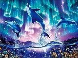 Pintura de diamante delfín bordado de diamantes redondos completos animales imágenes de diamantes de imitación mosaico punto de cruz decoración del hogar A5 30x40cm