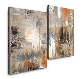 Sinus Art Abstrakt 120x80cm 2 Kunstdrucke je 70x60cm