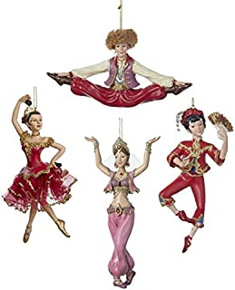 Kurt Adler Resin International Dancer Ornament Set Of 4
