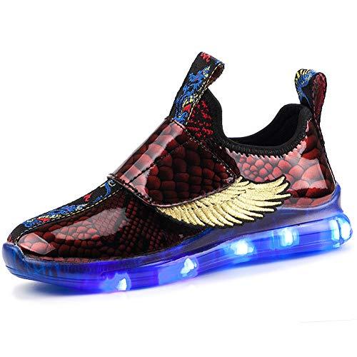 Skybird-UK LED Zapatos Verano Ligero Transpirable Bajo 7 Colores USB Carga Luminosas Flash Deporte de Zapatillas con Luces Los Mejores Regalos para Niños Niñas Cumpleaños