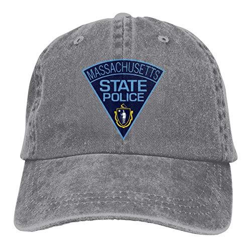 SLISL EIEI Massachusetts State Police Adjustable Baseball Caps Denim Hats Cowboy Sport Outdoor