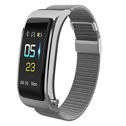Y5 Bluetooth Smart Armband Horloge Met Draadloze Koptelefoon Music Headset Sport Stappenteller Smart Polsband,Silver