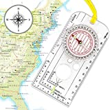 XLHVTERLI Navigation Compass,Explorer Compass for Expedition Map reading,Lightweight Map Ruler,Orienteering Compass with Adjustable