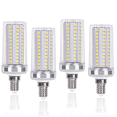 SanGlory Lampadine LED E14 15W Equivalenti a 120W, Lampadina Mais LED E14 Bianca Fredda 6000K 1720LM Alta luminosità e Risparmio Energetico Non Dimmerabile, 4 Pezzi (E14 LED Fredda)