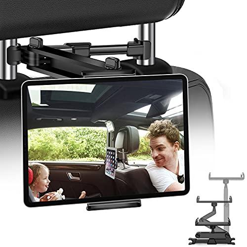 """JPARR Tablet Halterung KFZ, Universelle Ausziehbare Auto Kopfstützen Halterung, 360° Drehung Tablet Kopfstützenhalter für 4~11"""" Handy, Tablet, Switch und Andere Geräte"""
