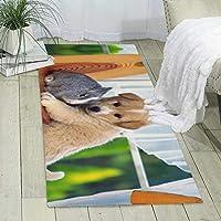かわいい子犬 ウサギカーペットの塗装と印刷、大きくてモダンな模様のふわふわの床カーペット、柔らかなインテリア、寝室、オフィス、リビングルーム、お手入れが簡単、180cm X 60cm * 6mm