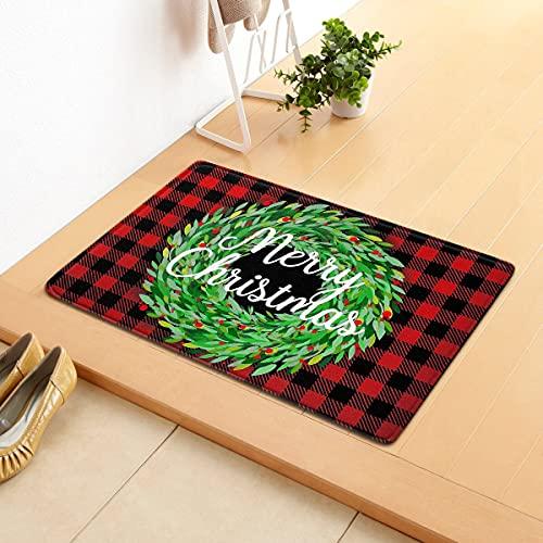 Stile Natalizio Capodanno Ornament Floor Tappet Flanella Natalizia Tappeto zerbino Happy Merry Christmas Decorations Area Tappeto for Home Regali di Natale