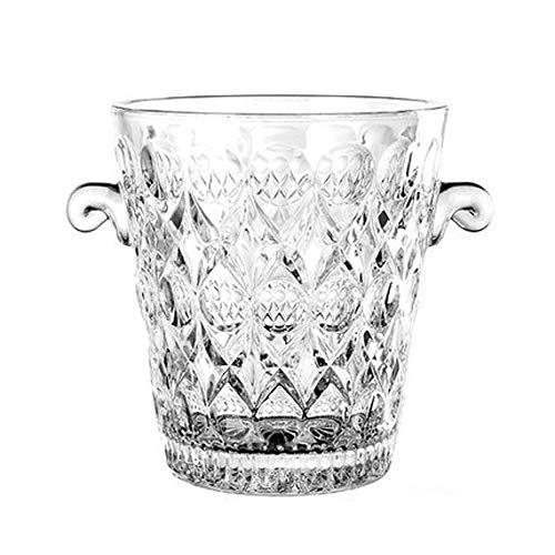 Portaghiaccio Secchiello del ghiaccio con pinze Secchiello for il ghiaccio, cristallo di ghiaccio benna, benna di ghiaccio senza coperchio domestica Vino Rosso champagne benna di ghiaccio Ice Cube ben