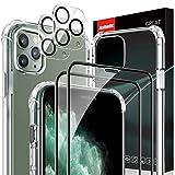 AsBellt Protector Pantalla de iPhone 11 Pro Max(2*Protector de Pantalla+2*Protector de Cámara +1*Funda) Cristal Templado para iPhone 11 Pro Max (6.5')