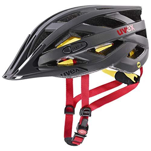 Uvex i-Vo CC MIPS Casco de Bicicleta, Unisex Adulto, Titan-Red Mat, 56-60 cm