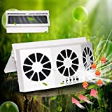 STYLOOC Car Solar Air Circulator Exhaust Fan, Solar Powered Car Ventilator, Car...