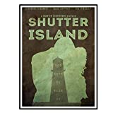 Swarouskll Shutter Island Poster Wandkunst Poster Leinwand