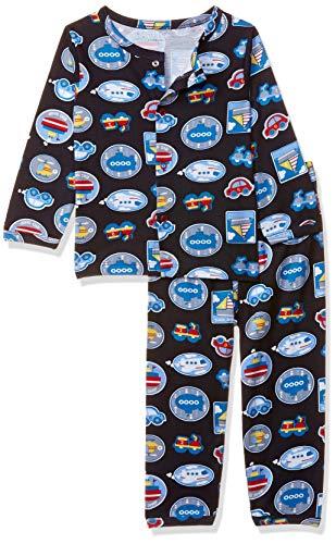 Mom's Love Baby Boy's Regular fit Sleepsuit (MLS20025BXXNTW_Navy_6-9 Months)