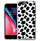 CasesOnDeck Case Compatible with [Apple iPhone 8 Plus | iPhone 7 Plus (5.5')] iPhone 8 Plus TPU Case, Slim Transparent Flexible TPU Cover with Bump and Drop Corner Protection (Cow Print)