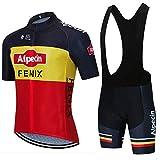 STEPANZU Maillot Ciclismo Verano Hombre-Mujer MTB Ropa + Culote Pantalones Cortos Conjunto de Ciclismo Ropa