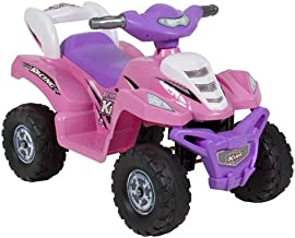 Best Choice Products 6V Kids Battery Powered Electric 4-Wheeler Quad ATV Bicycle Toddler Ride-On Toy w/ Charger, Treaded Tires - Pink
