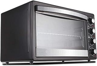 Toaster Oven STBD-Horno doméstico multifunción, 35L, Bandeja para Hornear Parrilla y asa a la Parrilla, Parrilla de Horquilla giratoria de 360 °, Negro