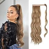 Feshfen coleta postiza rizada pelo, 60 cm largo ondulado wavy ponytail extension cola de caballo extensiones clip postizos de pelo rizado para mujeres chica