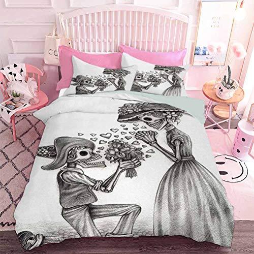 Hiiiman - Juego de ropa de cama con impresión en 3D (3 unidades, tamaño California King) y dos fundas de almohada