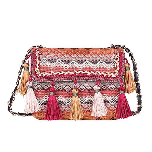 WoWer Rucksack Damen,Bohemian Tasche Stickerei Mädchen Rucksack Soft PU für Reisen Shopping Dating Party Urlaub
