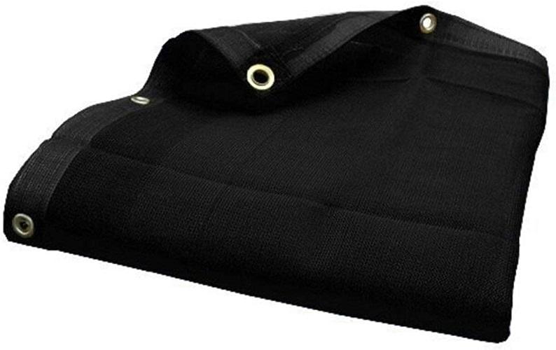 LXHONG Filet D'ombrage Filet De Camouflage Filet D'ombrage Trou en Métal Prougeection Contre Les Ombres Cryptage Noir Pliable Polyester, Taille 17 (Couleur   noir, Taille   5X6m)