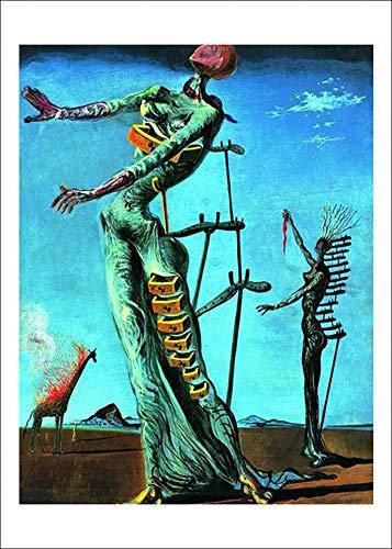 Salvador Dali Die brennende Giraffe Poster Kunstdruck Bild 60x48cm