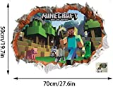 GTRB Wandsticker Minecraft Cartoon Game 3D Wandaufkleber