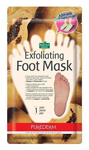 Purederm Exfoliating voetmasker – Peels uit elkaar vallen en dead huid in 2 weken. Purederm (3 pak (3 behandelingen), grote maat)