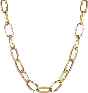 SX التجارة عقود قلادة للنساء الذهب اللون قلادة سلسلة متعدد الطبقات المختنقون الأنيق ورقة قلادة قلادة